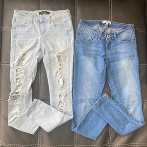 lot of 2 skinny jeans (size 3)